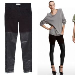 J.Brand Richard Nicoll waxed panel side zip jeans